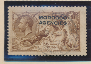 Great Britain, Offices In Morocco Stamp Scott #217, Used - Free U.S. Shipping...