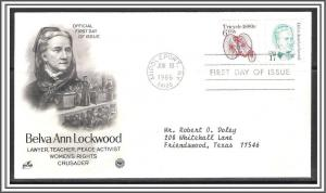 US #2178 & 2126 Belva Lockwood Combo FDC