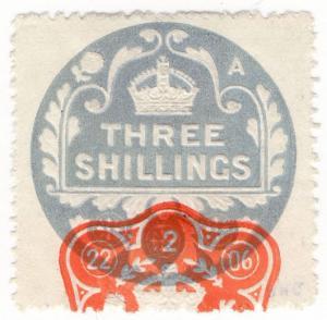 (I.B) Edward VII Revenue : General Duty Adhesive 3/- (series 9)