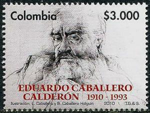 HERRICKSTAMP COLOMBIA Sc.# 1348 Eduardo Caballero Calderon