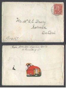 Canada  #5548 - 3c KGV arch - Nipissing district - Tor & North Bay RPO [ O384 RF