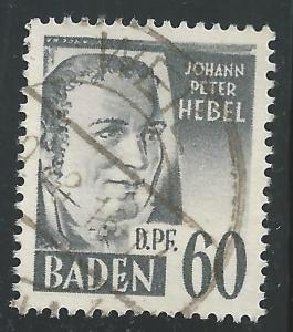 Germany #5N25 60dpf Johann Peter Hebel
