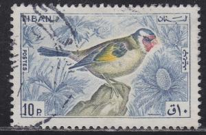 Lebanon 435 European Goldfinch 1965