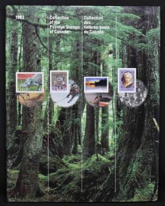 CANADA 1993 Souvenir Stamp Collection, USA delivery only.
