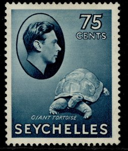 SEYCHELLES GVI SG145, 75c slate-blue, M MINT. Cat £85. CHALKY