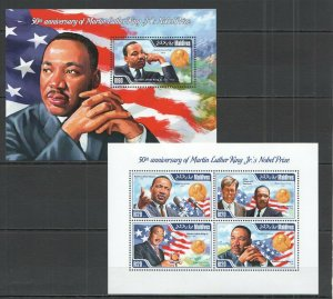 ML433 2014 MALDIVES FAMOUS PEOPLE 50TH ANNIVERSARY MARTIN LUTHER KING KB+BL MNH