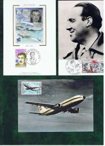 FRANCE MAXI CARDS AIRPLANES
