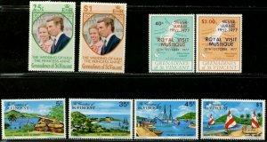 ST. VINCENT GRENADINES 1973-1985 Ten Complete Sets OG Mint H & NH
