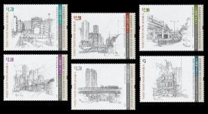 Hong Kong Museums Collections Pencil Drawings KONG Kai-ming set MNH 2016