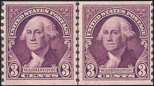 721 Mint,OG,XXXLH... Line Pair... SCV $10.00