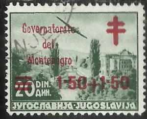 OCCUPAZIONE ITALIANA 1942 GOVERNATORATO DEL MONTENEGRO CROCE ROSSA POSTA AERE...