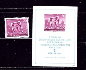 Germany (DDR) 226 and 226a MLH 1954 set