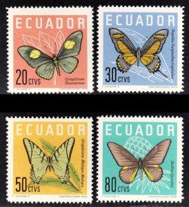 Ecuador Scott 680-83 complete set F to VF mint OG H.