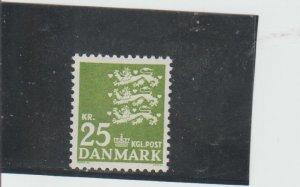 Denmark  Scott#  400  MNH  (1962 State Seal)