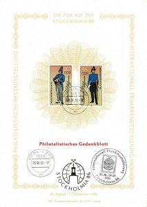 GDR 1986, Sc.#2521-2522 used Prussian Postal Uniforms