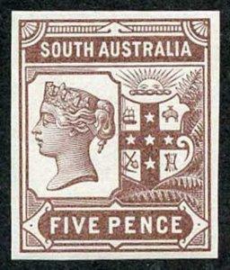 South Australia 1894 5d Colour Trial in Brown no wmk Paper Fresh U/M