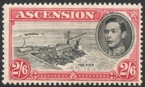 ASCENSION-1938-53 2/6 Black & Deep Carmine Perf 13½ Sg 45 toned gum MM V38053