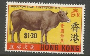 HONG KONG  273  MNH,  LUNAR NEW YEAR