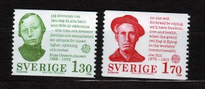 J23058 JLstamps 1980 sweden mnh set #1324-5 famous prople