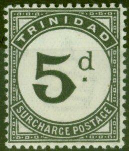 Trinidad 1944 5d Black SGD22 Fine Lightly Mtd Mint