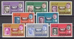 Sharjah, Mi cat. 213-220 A. Int`l Co-operation issue.