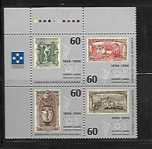MICRONESIA, 241, MNH, BLOCK OF 4, OLYMPIC GAMES