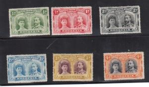 Rhodesia #101 - #106 VF Mint
