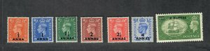 Oman Sc#35-41 M/NH/VF, Cv. $67.20