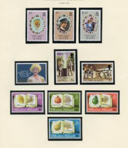 PITCAIRN ISLAND SELECTION OF MINT NH STAMPS AND SOUVENIR SHEETS AS SHOWN