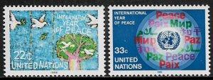 United Nations #475-6 MNH Set - Peace Year