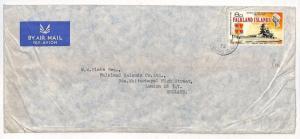 FALKLAND ISLANDS Company Air Mail Cover GB London BATTLESHIPS 1975 SS402