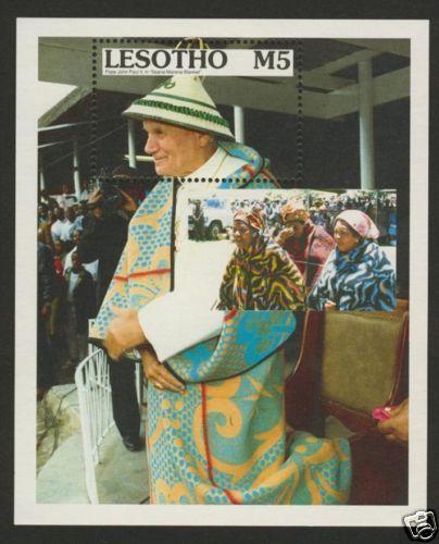 Lesotho 782 MNH Pope John Paul II, Seana-Marena Blanket