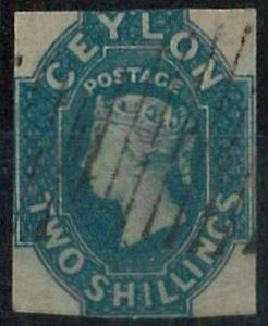 70362 - CEYLON - STAMPS: Stanley Gibbons #  12 - VERY Finely Used !