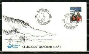 Faroe Is., Scott cat. 41. Girl Scouts, 50th anniversary. First day cover. ^