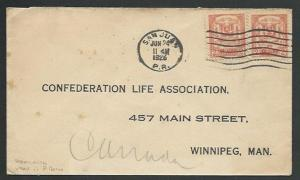 DOMINICAN REPUBLIC USED IN PORTO RICO 1926 cover to Canada.................61192