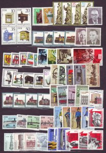 J23268 various 1984-6 germany DDR complete sets mnh