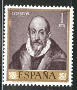 Spain Scott 977 MH* el Greco stamp