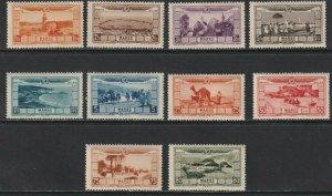 Sc# CB1 / CB10 1928 French Morocco air post semi postal full set MNH CV $87.50