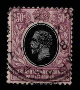 East Africa and Uganda protectorates  Scott 47 KEVII nice color and centering