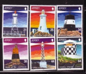Jersey  Sc 923-8 1999 Lighthouses stamp set mint NH