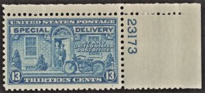 US E17 MNH VF 13 Cent Motorcycle Plate # Single-Blue