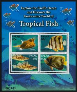Palau 922-3 MNH Tropical Fish, Coral