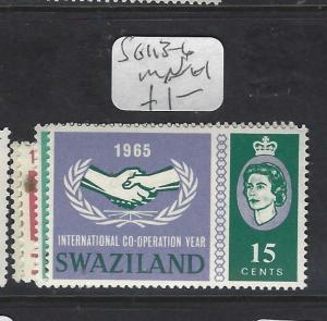 SWAZILAND  (P1901B)   QEII   ITU, ICY  SG 113-6    MNH