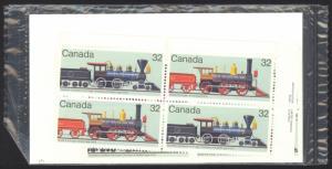 Canada Sc# 1037a MNH PB Set/4 (SEALED) 1984 32c Locomotives