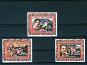 Guinea 2006 Michael Schumacher 7 Times W.Champion 3 SS MNH