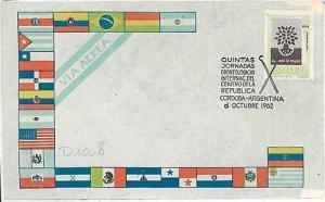 DENTISTRY DENTAL  POSTAL HISTORY: COVER: ARGENTINA 1962