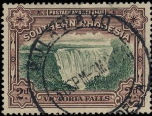 SOUTHERN RHODESIA - 1951 - SG35a CANCELLED BULAWAYO DOUBLE CIRCLE DATE STAMP