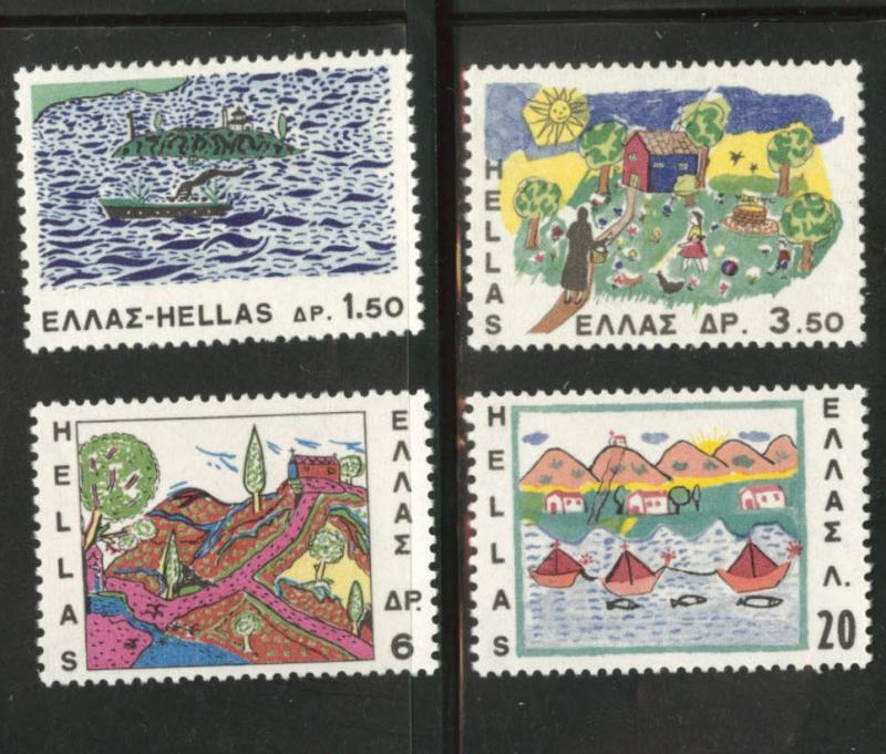 GREECE Scott 905-908 MH* 1967  stamp set