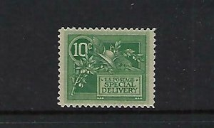 US #E7 1908 SPECIAL DELIVERY- 10 CENTS (GREEN)  NEVER HINGED