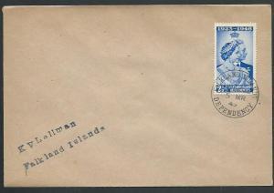 FALKLAND DEPS 1949 cover SOUTH SHETLANDS cds...............................61433